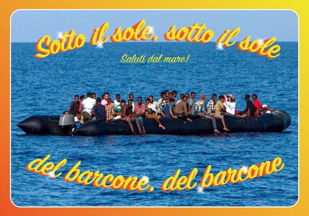 Sotto il sole del barcone