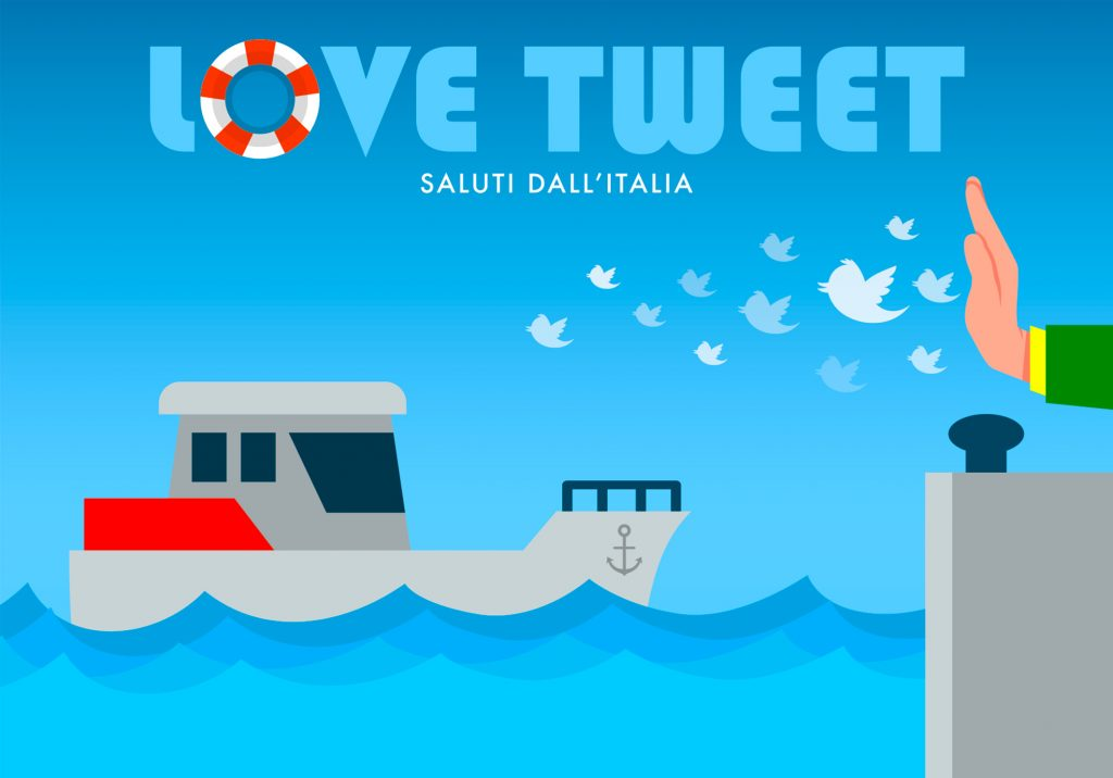 Love tweet. Saluti dall'Italia